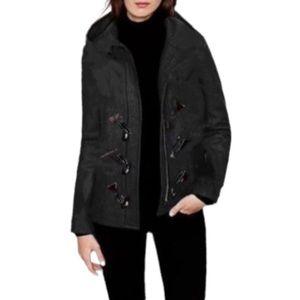 🌸J Crew🌸 Melton Toggle Coat Jacket 8 Dark Gray